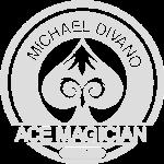 Rond logo van goochelaar Michael Divano